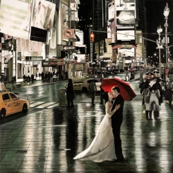 Wall art print and canvas. Pierre Benson, Romance in New York