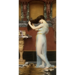 Quadro, stampa su tela. John William Godward, The Toilet