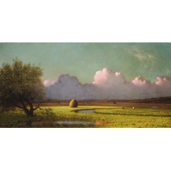 Wall art print and canvas. Martin Johnson Heade, Sunlight and Shadow: The Newbury Marshes
