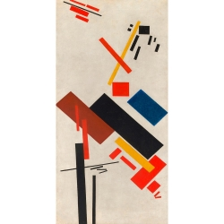 Wall art print and canvas. Kasimir Malevich, House under construction