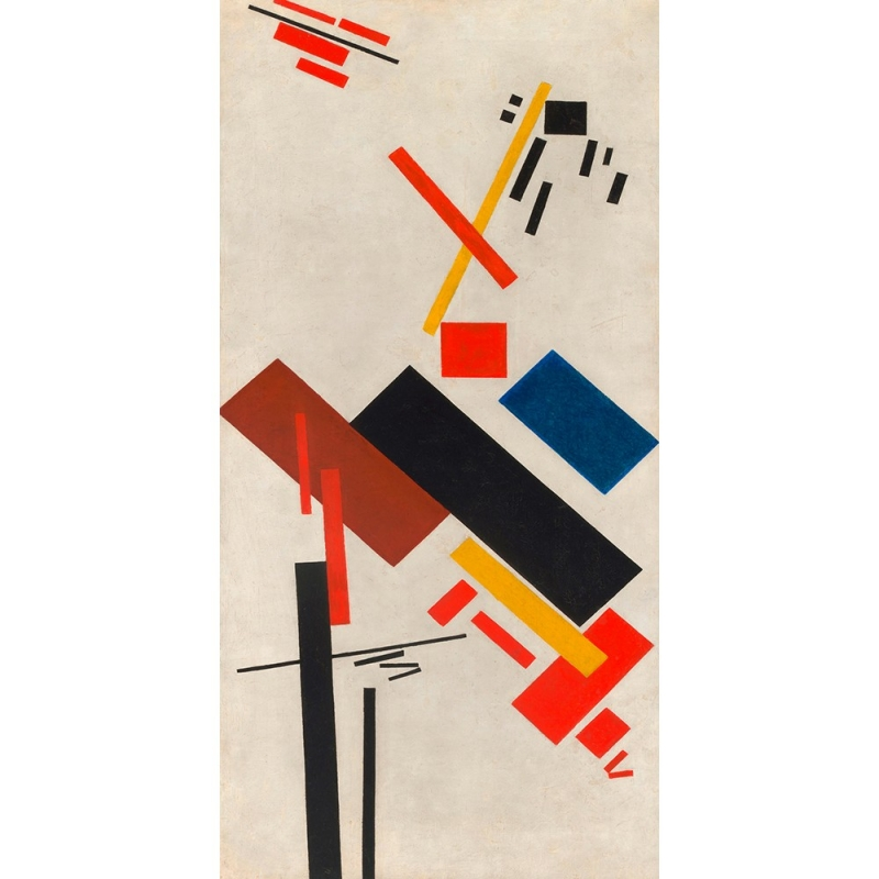 Quadro, stampa su tela. Kasimir Malevich, House under construction