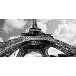 Wall art print and canvas. Elias Jonette, The Eiffel Tower in spring