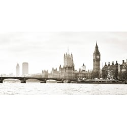 Wall art print and canvas. View of the Houses of Parliament and Westminster Bridge, London (detail)