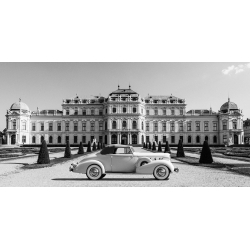 Cuadro de coches en canvas. At Belvedere Palace, Vienna