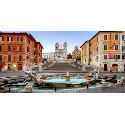 Wall art print and canvas. Piazza di Spagna, Rome