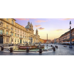 Wall art print and canvas. Piazza Navona, Rome
