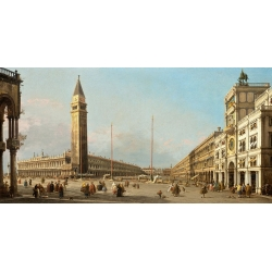 Wall art print and canvas. Canaletto, Piazza San Marco Looking South and West