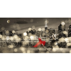 Wall art print and canvas. Dianne Loumer, Dancin' in the Moonlight (BW)