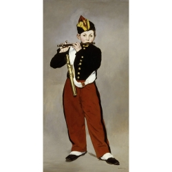 Wall art print and canvas. Manet, Edouard, The Young Flautist