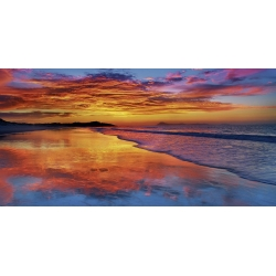 Wall art print and canvas. Krahmer, Sunset, North Island, New Zealand