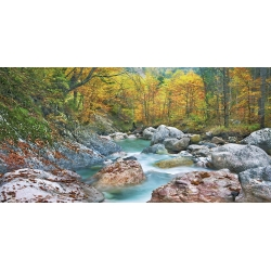 Wall art print and canvas. Krahmer, Mountain brook and rocks, Carinthia, Austria