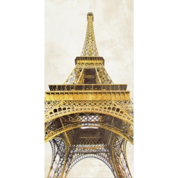 Wall art print and canvas. Joannoo, Gilded Eiffel Tower