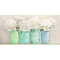 Peonies in Mason Jars (detail)