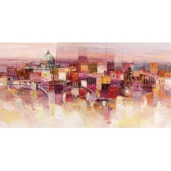 Wall art print and canvas. Luigi Florio, Dreaming of Rome