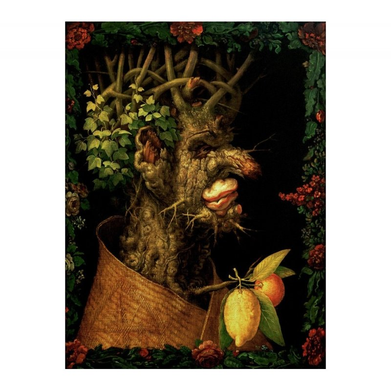 Wall art print and canvas. Giuseppe Arcimboldo, Winter