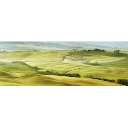 Wall art print and canvas. Krahmer, Tuscany landscape, Val d'Orcia, Italy