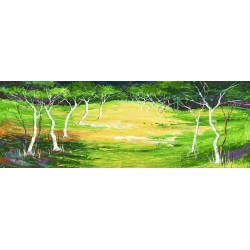 Cuadros de bosques en canvas. Lucas, Bosque verde