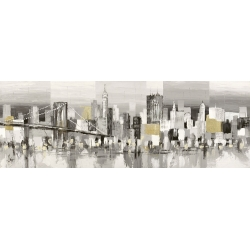 Wall art print and canvas. Luigi Florio, Manhattan & Brooklyn Bridge
