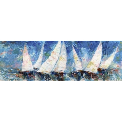 Wall art print and canvas. Luigi Florio, Evening Regatta