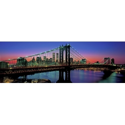 Wall art print and canvas. Berenholtz, Manhattan Bridge and Skyline