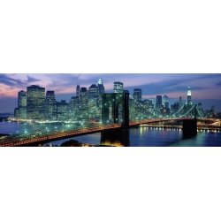 Wall art print and canvas. Berenholtz, Brooklyn Bridge and Skyline