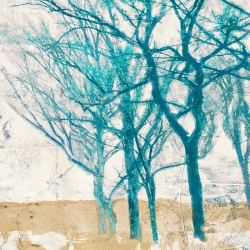 Wall art print and canvas. Alessio Aprile, Turquoise Trees II