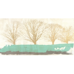 Wall art print and canvas. Alessio Aprile, Tree Lines Gold