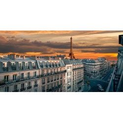 Wall art print and canvas. Pangea Images, Morning in Paris