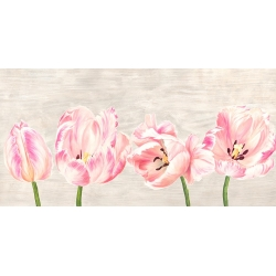 Wall art print and canvas. Jenny Thomlinson, Classic Tulips