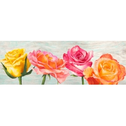 Wall art print and canvas. Jenny Thomlinson, Funky Roses