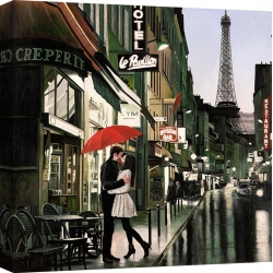 Wall art print and canvas. Pierre Benson, Romance in Paris