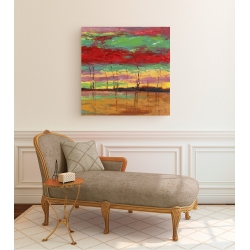 Wall art print and canvas. Lucas, Sunset in the Woods III
