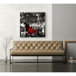 Wall art print and canvas. Dianne Loumer, Midnight in Paris (BW)