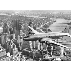 Quadro, stampa su tela. In volo su Manhattan, New York