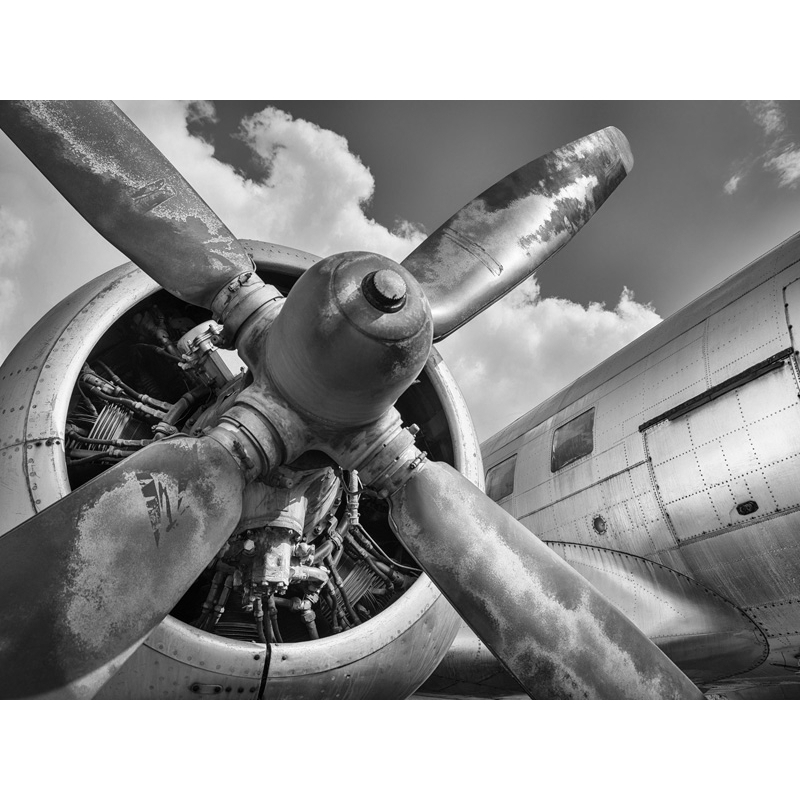 Wall art print and canvas. Vintage aircraft propeller