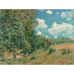 Wall art print and canvas. Alfred Sisley, The Road from Versailles to Saint-Germain