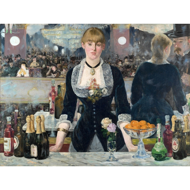 Wall art print and canvas. Edouard Manet, Bar at the Folies-Bergère
