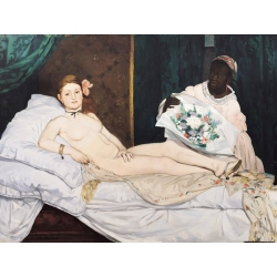 Wall art print and canvas. Edouard Manet, Olympia