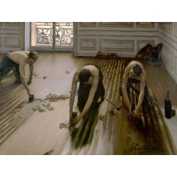 Wall art print and canvas. Gustave Caillebotte, The Floor Planers
