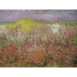 Wall art print and canvas. John Peter Russell, Amongst the Flowers at Belle Isle