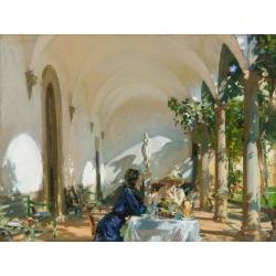 Wall art print and canvas. John Singer Sargent, Breakfast in the Loggia