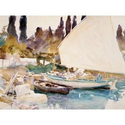 Wall art print and canvas. John Singer Sargent, Boats