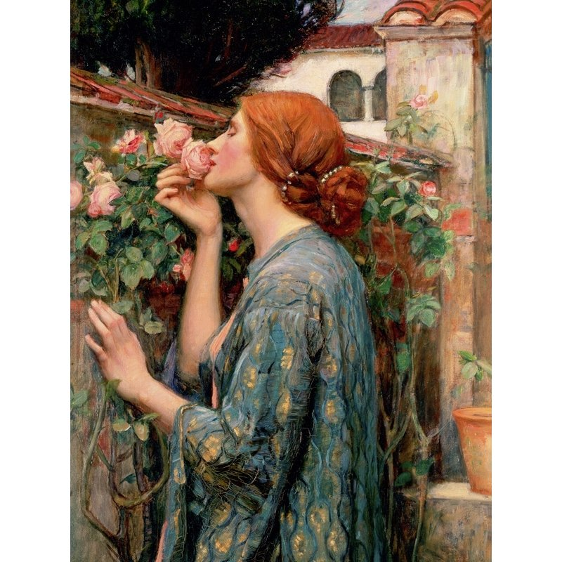 Quadro, stampa su tela. John William Waterhouse, The Soul of the Rose