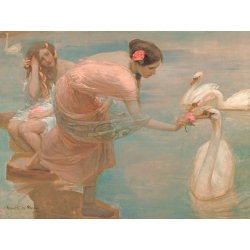 Wall art print and canvas. Rupert Bunny, A Summer Morning