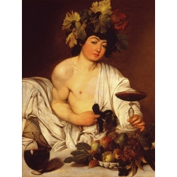 Wall art print and canvas. Caravaggio, Young Bacchus