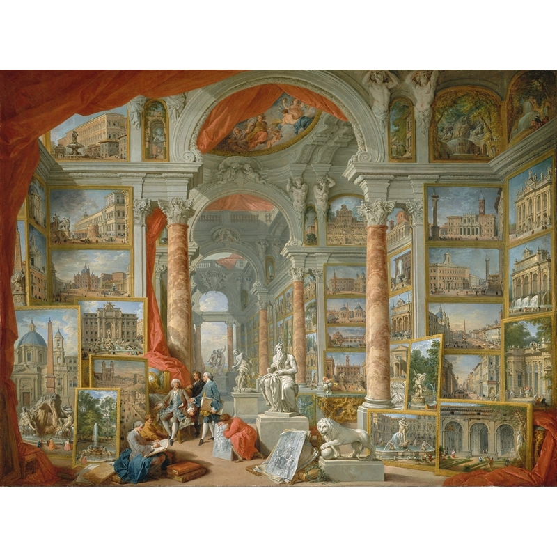 Wall art print and canvas. Giovanni Paolo Panini, Gallery of Views of Modern Rome