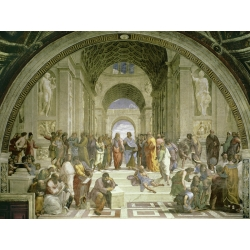 Wall art print and canvas. Raffaello, The School of Athens