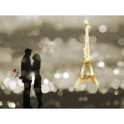 Wall art print and canvas. Dianne Loumer, A Date in Paris (BW)