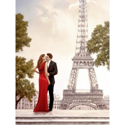 Wall art print and canvas. John Silver, Romance in Paris I