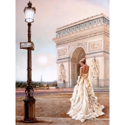 Wall art print and canvas. John Silver, Romance in Paris II